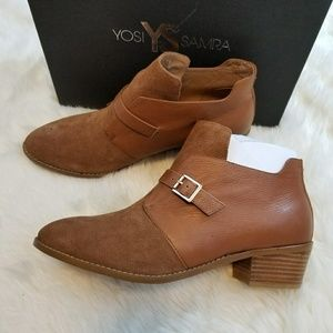 Yosi Samra suede leathers ankle boots